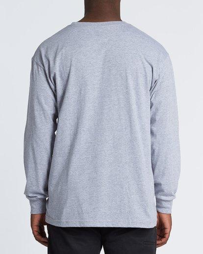 1 Stacked Essential Long Sleeve T-Shirt Grey M470WBSE Billabong