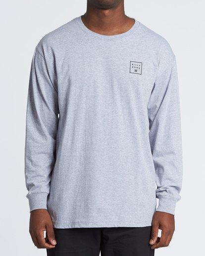 0 Stacked Essential Long Sleeve T-Shirt Grey M470WBSE Billabong