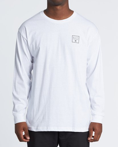 0 Stacked Essential Long Sleeve T-Shirt White M470WBSE Billabong