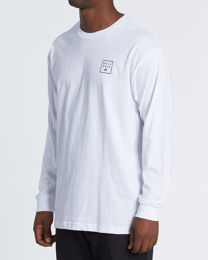 1 Stacked Essential Long Sleeve T-Shirt White M470WBSE Billabong