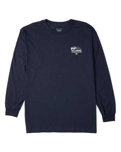 3 Sun Up Long Sleeve T-Shirt Blue M470WBSU Billabong