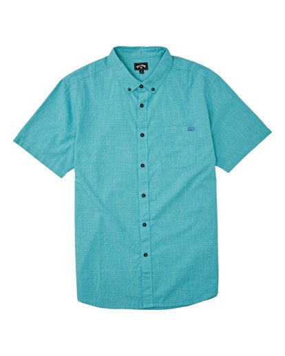 3 All Day Short Sleeve Shirt Green M5001BAL Billabong