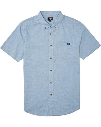 3 All Day Short Sleeve Shirt Blue M5001BAL Billabong
