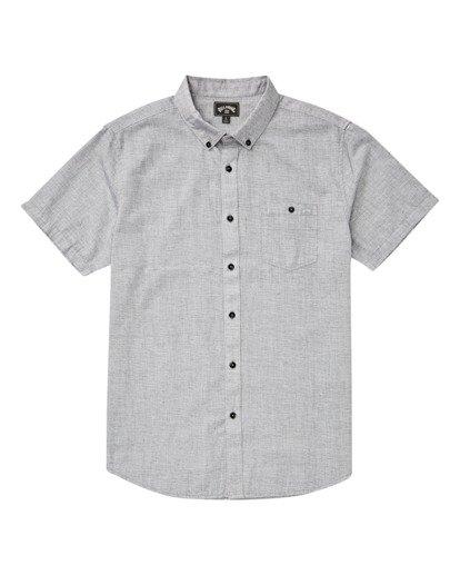 3 All Day Short Sleeve Shirt Grey M5001BAL Billabong