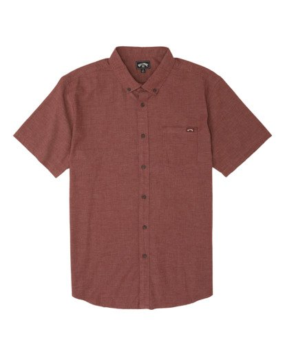 3 All Day Short Sleeve Shirt Orange M5001BAL Billabong