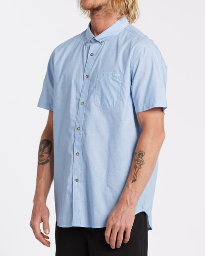 1 All Day Short Sleeve Shirt Blue M5001BAL Billabong
