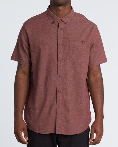 0 All Day Short Sleeve Shirt Orange M5001BAL Billabong