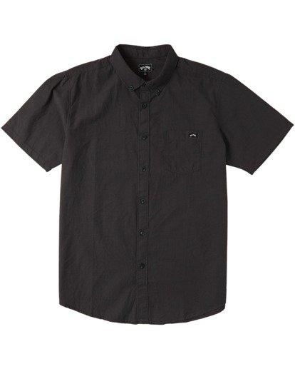 4 All Day Short Sleeve Shirt Black M5003BAL Billabong