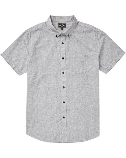 4 All Day Short Sleeve Shirt Grey M5003BAL Billabong