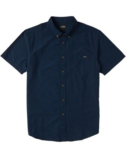 3 All Day Short Sleeve Shirt Blue M5003BAL Billabong