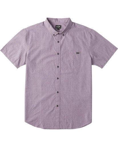 4 All Day Short Sleeve Shirt Purple M5003BAL Billabong