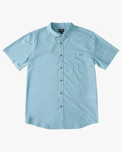 3 All Day Short Sleeve Shirt Blue M5003BAL Billabong
