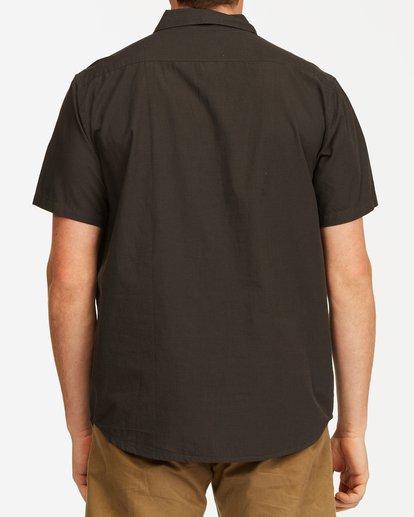 2 All Day Short Sleeve Shirt Black M5003BAL Billabong