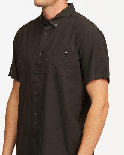 3 All Day Short Sleeve Shirt Black M5003BAL Billabong