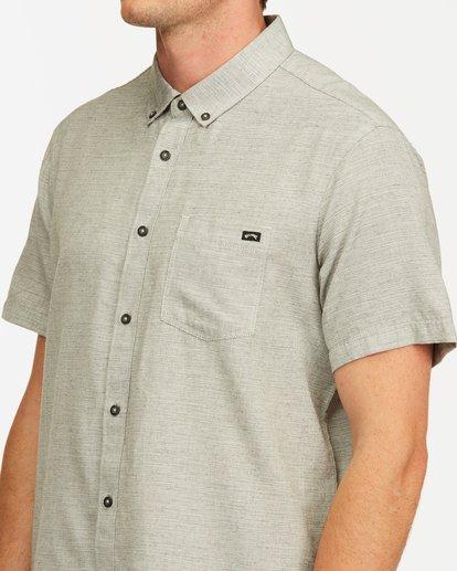 3 All Day Short Sleeve Shirt Grey M5003BAL Billabong