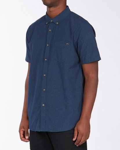 1 All Day Short Sleeve Shirt Blue M5003BAL Billabong