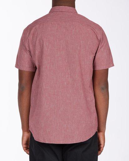 2 All Day Short Sleeve Shirt Red M5003BAL Billabong