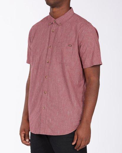 1 All Day Short Sleeve Shirt Red M5003BAL Billabong