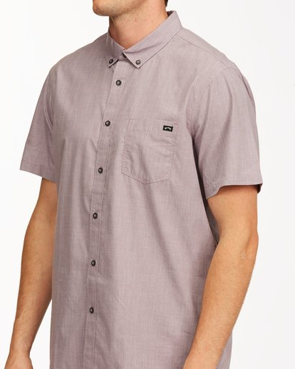 3 All Day Short Sleeve Shirt Purple M5003BAL Billabong