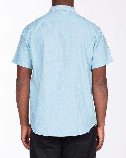 2 All Day Short Sleeve Shirt Blue M5003BAL Billabong