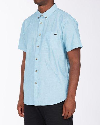 1 All Day Short Sleeve Shirt Blue M5003BAL Billabong