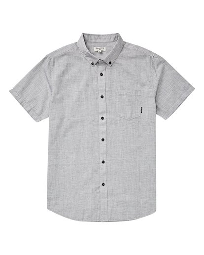 4 All Day Short Sleeve Shirt Grey M500TBAL Billabong