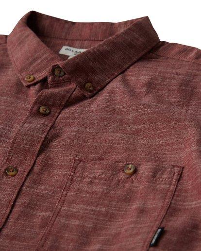 1 All Day Short Sleeve Shirt Red M500TBAL Billabong