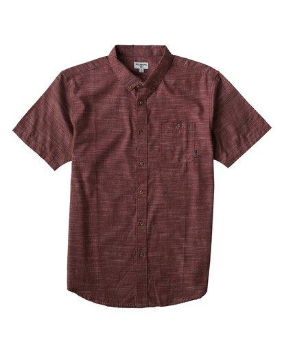 0 All Day Short Sleeve Shirt Red M500TBAL Billabong