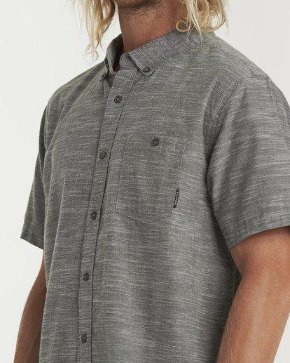 3 All Day Short Sleeve Shirt Brown M500TBAL Billabong
