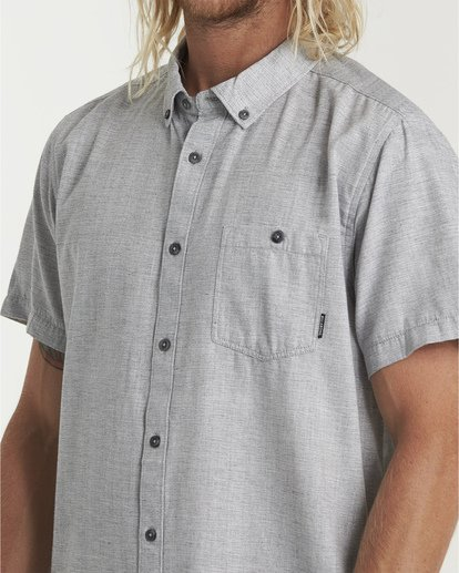 3 All Day Short Sleeve Shirt Grey M500TBAL Billabong
