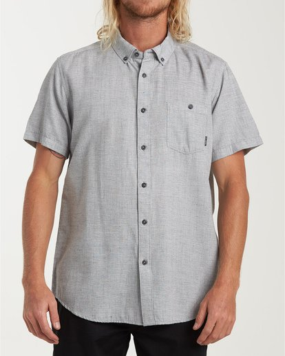 0 All Day Short Sleeve Shirt Grey M500TBAL Billabong