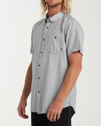 1 All Day Short Sleeve Shirt Grey M500TBAL Billabong