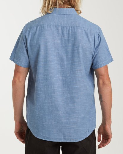 2 All Day Short Sleeve Shirt Blue M500TBAL Billabong
