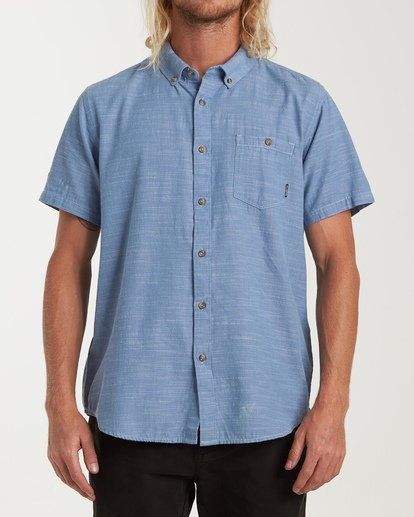 0 All Day Short Sleeve Shirt Blue M500TBAL Billabong