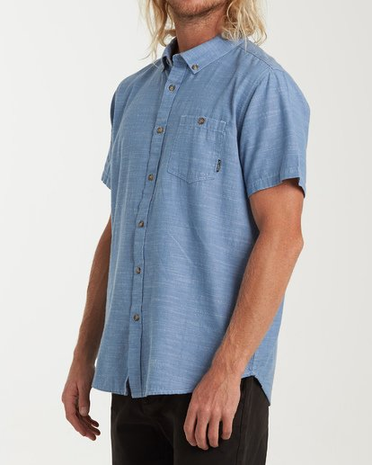 1 All Day Short Sleeve Shirt Blue M500TBAL Billabong