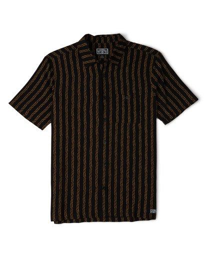 3 Tucker Vert Short Sleeve Shirt Black M501WBTR Billabong