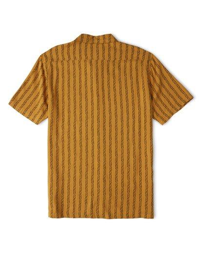 4 Tucker Vert Short Sleeve Shirt Beige M501WBTR Billabong
