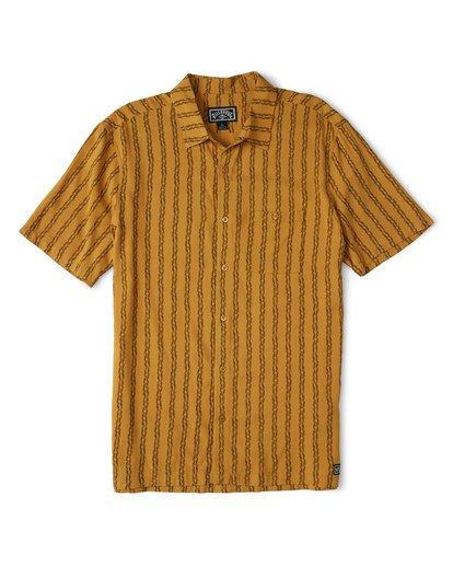 3 Tucker Vert Short Sleeve Shirt Beige M501WBTR Billabong