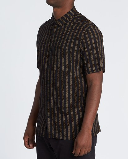 1 Tucker Vert Short Sleeve Shirt Black M501WBTR Billabong
