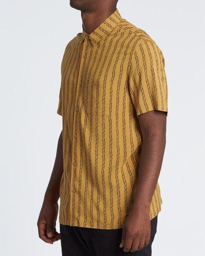 1 Tucker Vert Short Sleeve Shirt Beige M501WBTR Billabong