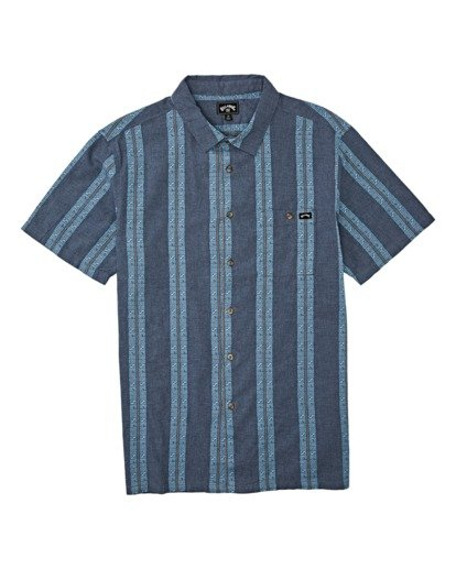 3 Sundays Jacquard Short Sleeve Shirt Blue M5021BSJ Billabong