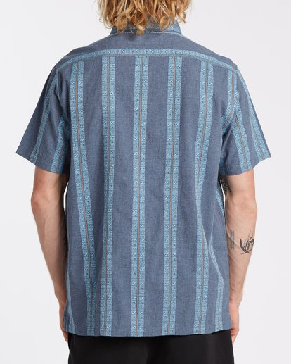 2 Sundays Jacquard Short Sleeve Shirt Blue M5021BSJ Billabong