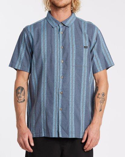 0 Sundays Jacquard Short Sleeve Shirt Blue M5021BSJ Billabong
