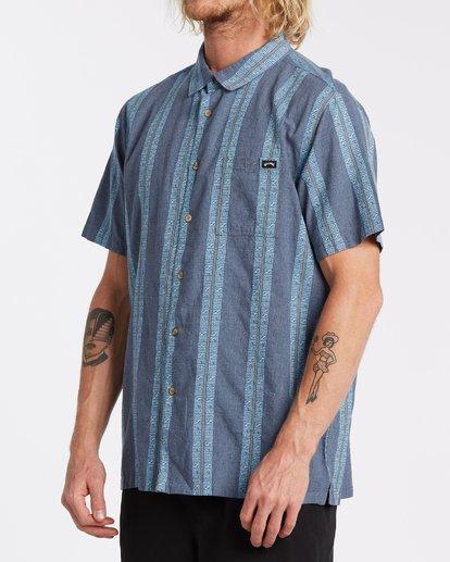 1 Sundays Jacquard Short Sleeve Shirt Blue M5021BSJ Billabong