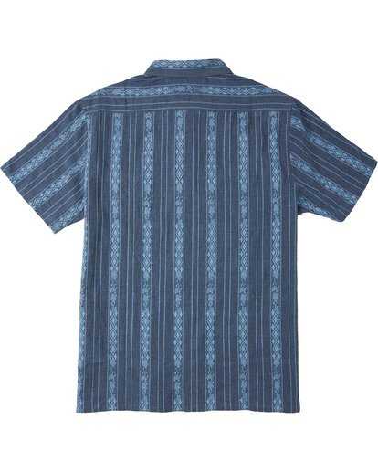 4 Sundays Jacquard Short Sleeve Shirt Blue M5023BSJ Billabong