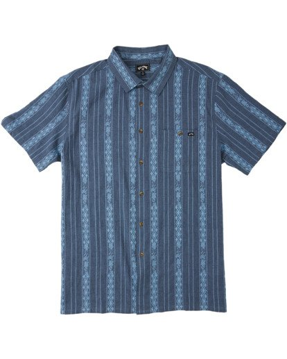 3 Sundays Jacquard Short Sleeve Shirt Blue M5023BSJ Billabong