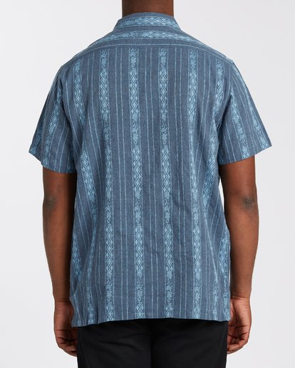 2 Sundays Jacquard Short Sleeve Shirt Blue M5023BSJ Billabong