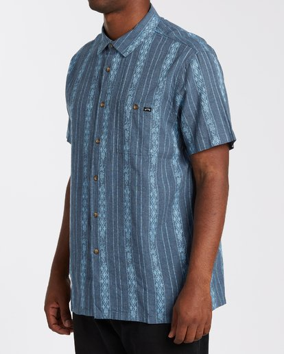 1 Sundays Jacquard Short Sleeve Shirt Blue M5023BSJ Billabong