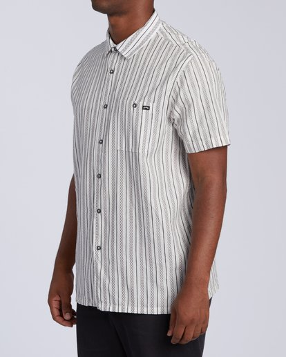 1 Sundays Jacquard Short Sleeve Shirt White M5023BSJ Billabong