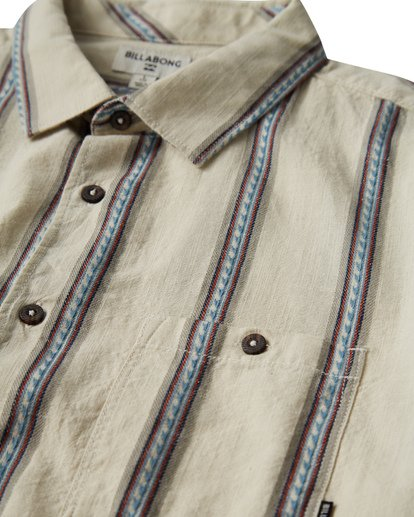 1 Sundays Jacquard Short Sleeve Shirt White M502VBSJ Billabong